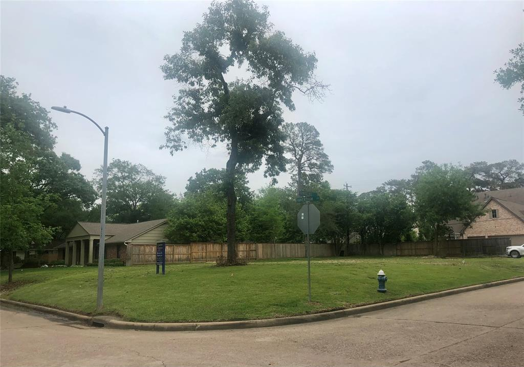 Location, location! Wonderful corner lot has already been cleared in coveted Whispering Oaks. Walking distance to Frostwood Elementary and Memorial Forest Club. Zoned to acclaimed Spring Branch ISD schools - Frostwood Elementary/Memorial Middle/Memorial High. Quick drive to City Center, Memorial City Mall, and great dining and retail venues in Houston. Quick and easy access to I-10 and Beltway 8. Amazing opportunity to choose your builder and design your dream home, or use current plans for house and pool with permits already in place! Previous home/lot has never flooded.