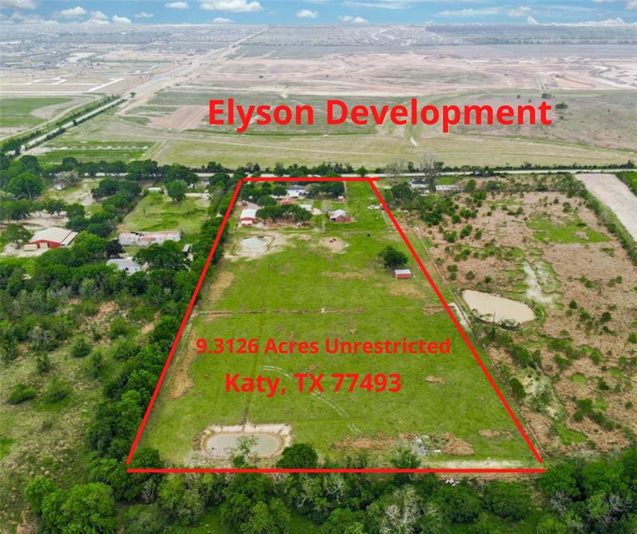 10 Acres of unrestricted PRIME COMMERCIAL property with road frontage on Longenbaugh. Located next to Katy's newest master planned community of Elyson and just minutes from Grand Parkway (99). This 10 acre tract has endless possibilities for development and to make your small business dreams come true. Water well & septic already established on the property along with utilities. Fully fenced and crossed fenced with AG exemption in place.