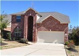 Beautiful Lennar home with 4 bedrooms, 3 full baths. 2 bedrooms downstairs including master bedroom. Master bath has dual vanities, separate shower with a jetted tub, and large walk in closet. Beautiful kitchen with SS appliances and large island open to the living room with gas fireplace. Fabulous wood floors throughout living areas downstairs. Large game room, 2 bedrooms and a full bath upstairs. Backyard includes covered patio, backs to greenbelt and has sprinklers.