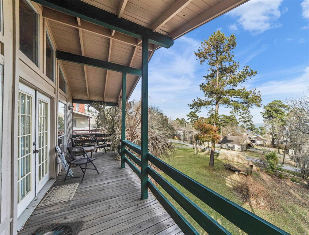 Enjoy your coffee with views from the large recently constructed covered balcony.