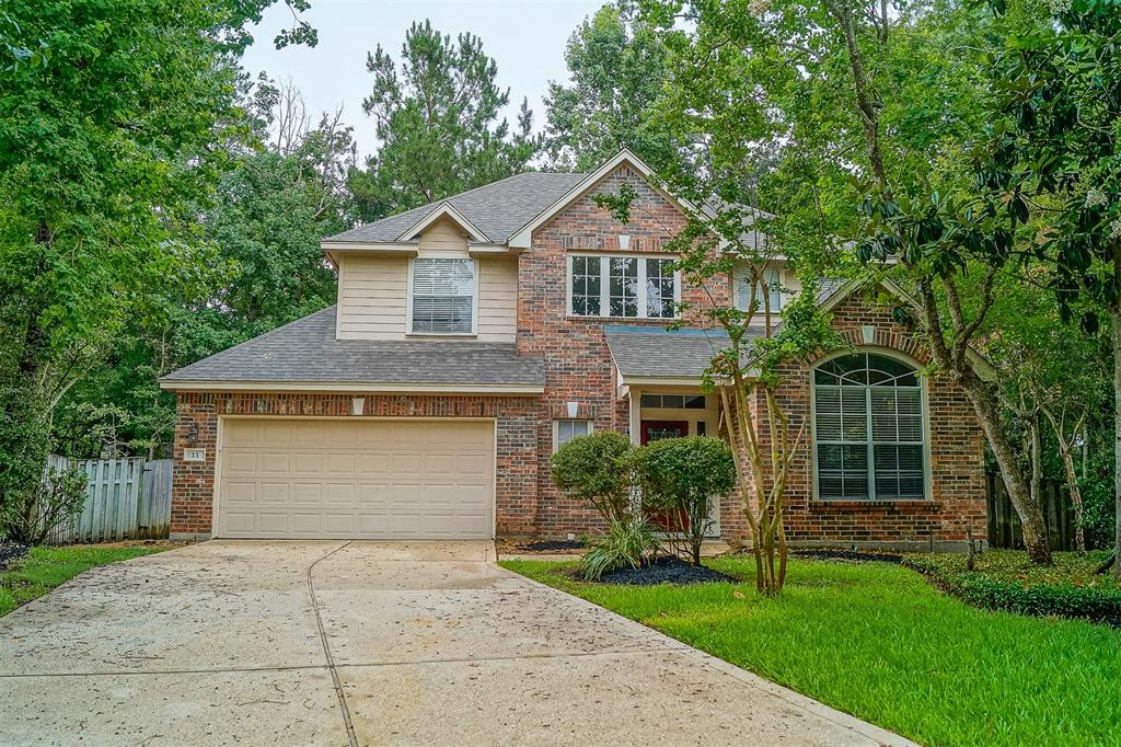 2 YEAR LEASE ONLY. Fantastic culdesac location in this highly desirable Alden Bridge location in The Woodlands!  Zoned to Buckalew Elementary! Nicely shaded back garden area.  Large wooden deck and screened in upper balcony. First floor living space is all tile and wood flooring. Recent carpet in carpeted areas. Master suite is large and has a separate sitting area or additional private work space area.  Dual vanities in the master bath. Large tub and separate shower.  Master closet has builtin organizer.  Formal dining area and a private study. Nice built ins located in the family room and upstairs hallway. Come see it today before its gone!