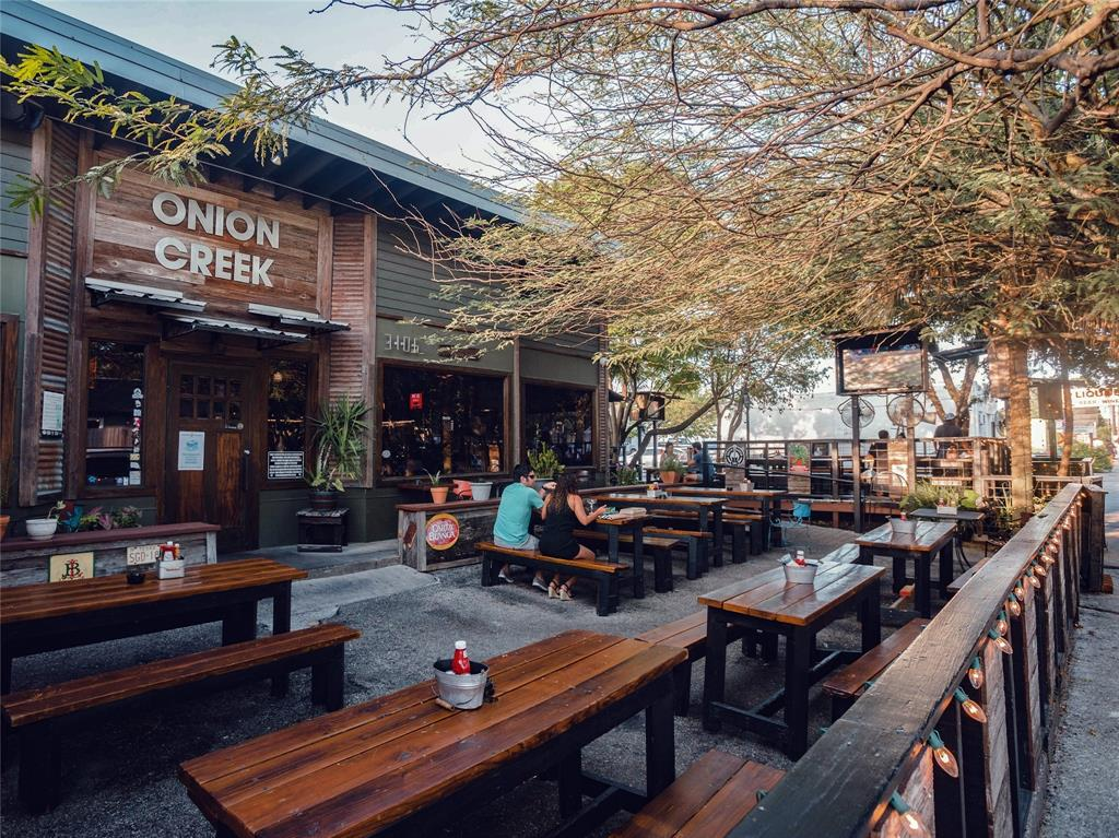 You'll also find open dining restaurants like Onion Creek and Cotivare nearby
