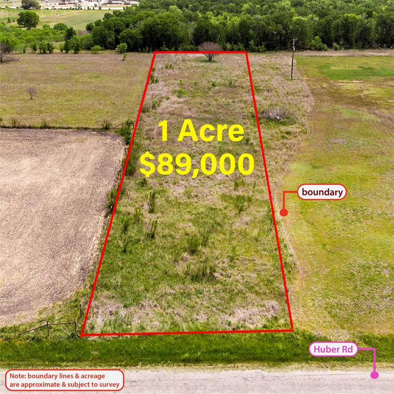 This 1-acre property is located between the cities of New Braunfels, San Marcos, and Seguin. There is 70 +/- feet of road frontage on Huber Road. Here are some of the great things about owning this property: 1) No restrictions, 2) Mobile homes are allowed, 3) Level land, 4) Quiet, country living, 4) It's ready for you! It's only 20 min from Seguin, 30 min from San Marcos, and 40 min from New Braunfels. This property is located in AE zone per survey.