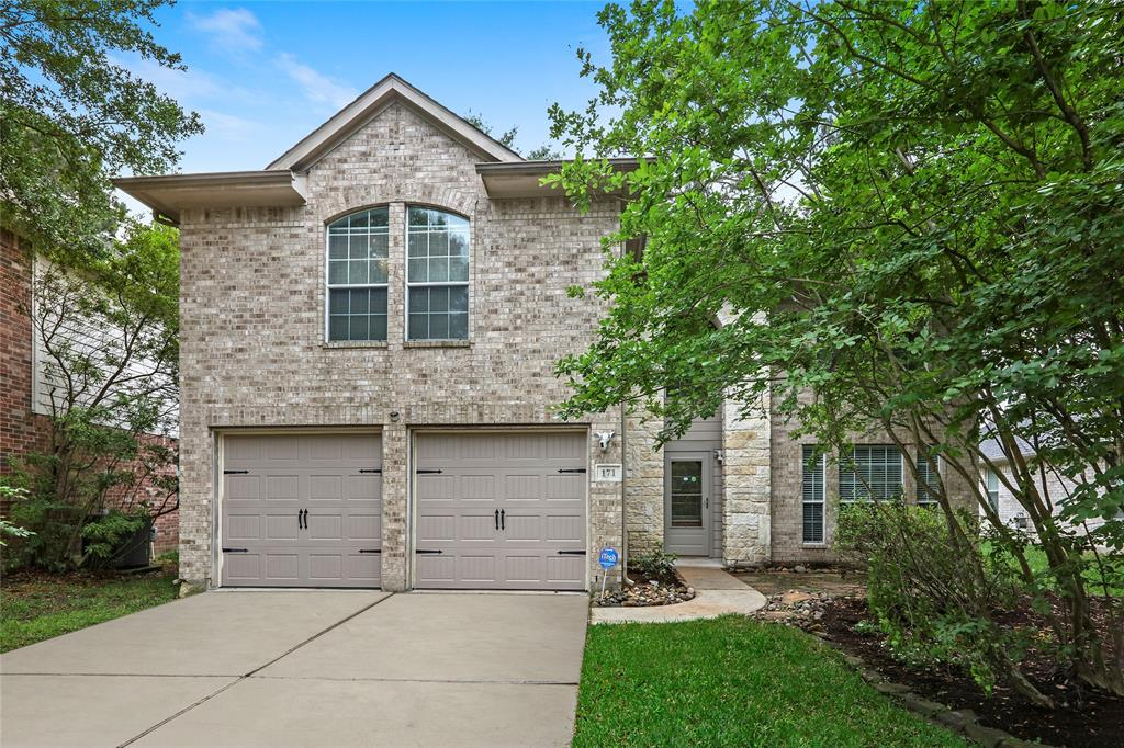 Beautiful 2 story home with 3 bedrooms, a study and a game room. Carpet only on stairs. Primary bedroom on 1st floor. Stainless appliances in the kitchen. Washer & Dryer included. Located in one of The Woodlands most popular communities. Close to Hospitals, The Woodlands Mall, EZ Access to I-45, Costco, Sams etc.  Surrounded by trees, a community park & pool, tennis courts, dog park., skate park, basketball park and hike and bike trails.