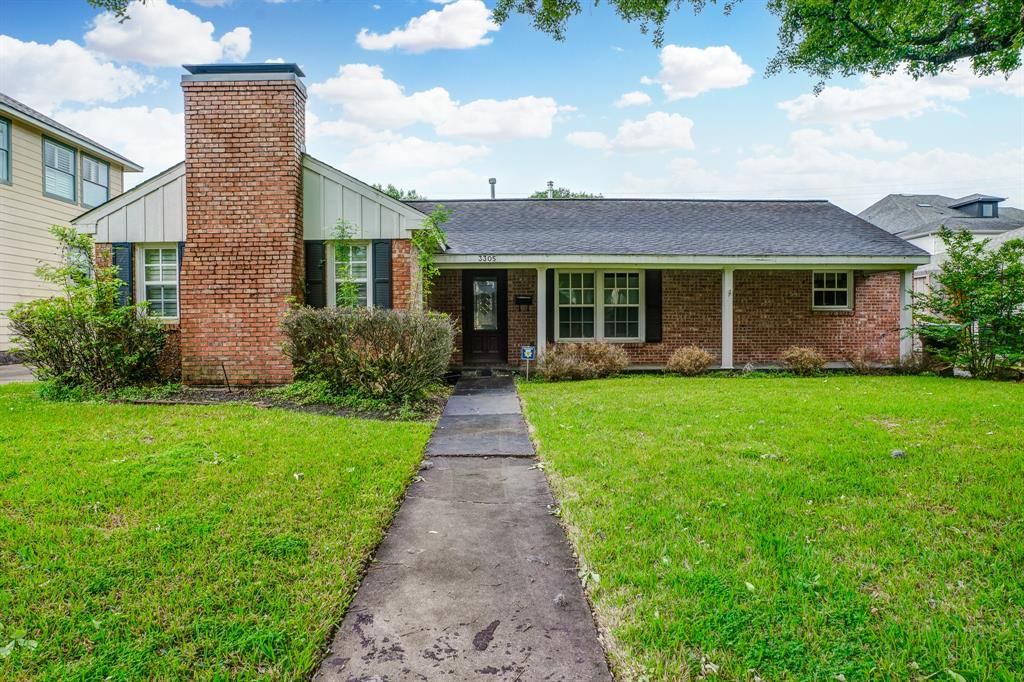 There is so much potential in this 3-bedroom, 2-bathroom home in Southern Oaks, which features a brick elevation, tile flooring, formal dining and living rooms, and a fireplace. Large French doors lead out of the cozy sunroom and out to the spacious backyard, complete with a covered patio, swimming pool, and spa. The kitchen is equipped with a wood island, tile backsplash, and glass fronted cabinets. Located near U.S. 90 and Buffalo Speedway, the home is situated in the heart of Houston, only minutes from Rice Village, the Texas Medical Center, and the Museum District. Enjoy the best cuisine and shopping the city has to offer at the nearby Galleria and Downtown Houston. Schools are zoned to Houston ISD.
