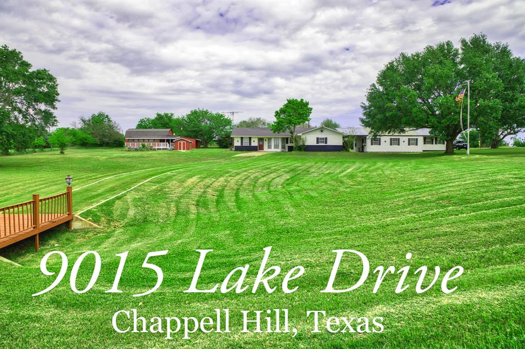 This property on Lake Drive in Chappell Hill Estates is a great weekend home, family getaway, full time property, or investment property. It features three different structures and a total of 2,626 air conditioned square feet, per Washington CAD.  The main home is 1,403 square feet with 3 bedrooms and 2 baths. The guest house is 385 square feet with a full kitchen, one bedroom and one bath. In addition, there is an air-conditioned office/storage building that is over 800 square feet.  The land is one of the best features on this property. It's just less than 2 acres and it is located on a corner lot in Chappell Hill Estates, one of the best established subdivisions in Washington County. There are beautiful views from each of the homes and the location of the property will put you just over an hour from Houston and College Station, and about 15 minutes from Brenham.  Great property, call Legend Texas office to set up showing.