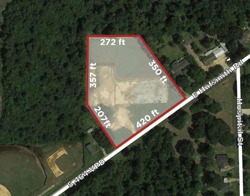 This +/- 3.78 acre property is in a fast-growing area on the northwest side of Tomball in North Harris Co. The pentagonal shape tract is cleared and has +/- 420 feet of frontage on E Hufsmith Rd. It is within the city limits of Tomball and has all city utilities. There are a variety of businesses in the area making this land ideal for many different types of project: industrial, office, church, preschool/daycare, or retail.