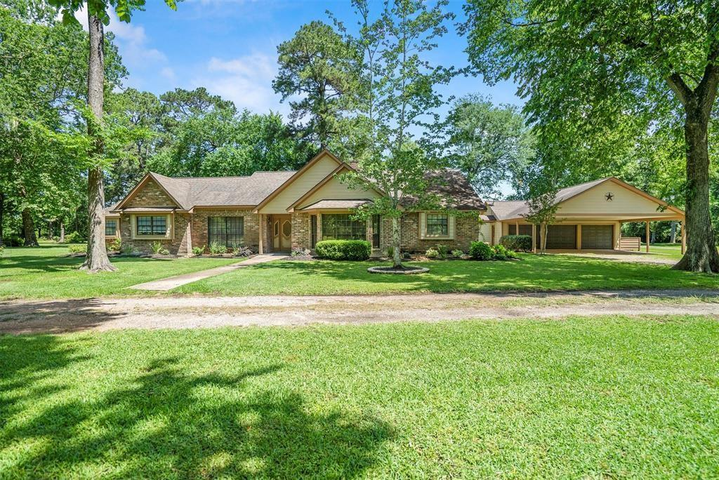 4 Acres of lightly restricted, INCOME PRODUCING, quiet country property just outside The Woodlands is now available to you! Create lasting memories on this beautiful property that's perfect for entertaining. One owner with obvious pride of ownership. RV Parking, Workshop, Tons of Storage! Mature landscaping with Fruit Trees/Bushes. Gazebo overlooking the Stocked Fish Pond has tv and ceiling fan. Primary Bathroom is freshly Remodeled and Amazing! Appliances, Flooring, Paint and Water Heater are Like New! Just about everything on the property is negotiable! Listing states facts about Main House. Second Home currently has a long term (now month to month) tenant and is INCLUDED! It's a 2 bedroom, 1 bathroom home separate from the main house with it's own carport. There's MORE to this property than what can be listed here! See REALTOR for additional information. Never Flooded!