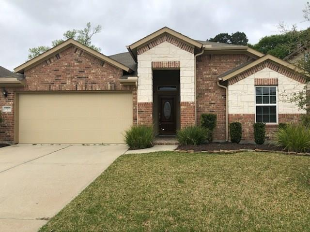 """THIS ONE'S A BEAUTY! Not your ordinary lease property, this charming home with its gorgeous stone and brick exterior is located in The Preserve at Northampton, a highly desirable gated community just minutes away from The Grand Parkway and I-45. Features include a tankless water heater, 9' ceilings, granite counters, 42"""" Kitchen Cabinets, ceiling fans, tile upgrade in the family room, extended covered patio, and sprinkler system. Perfect for entertainment or simply relax in front of the gas fireplace in the tiled family area. Bedrooms are down including the Master with its huge bathroom and separate shower. Upstairs, you'll enjoy the large game room and bath. The large, shady backyard is fully fenced, and the two-stall garage allows for lots of extra storage space. Neighborhood amenities include a pool with a splash pad, a tree-enveloped clubhouse, a playground, and trails. The neighborhood is just an eight-mile commute to the Exxon/Mobil campus along the Energy Corridor and Woodlands"""