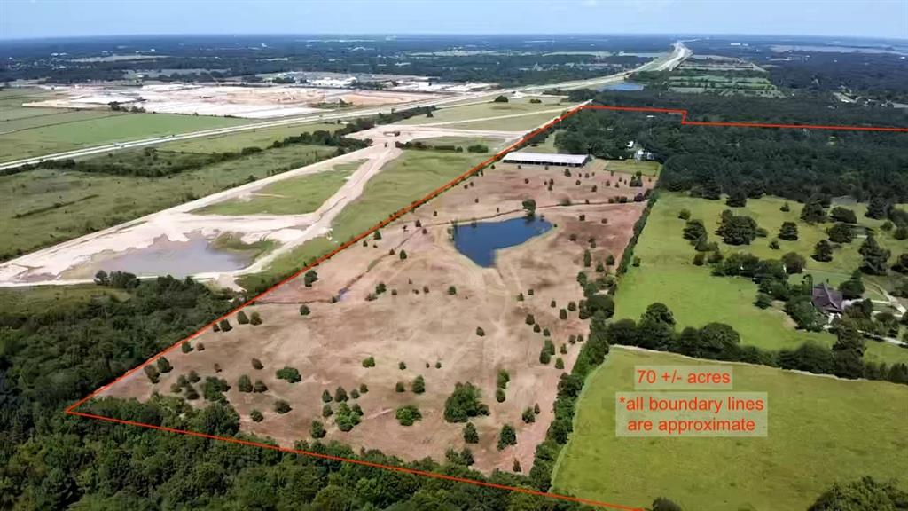 Location,Location!!This Exceptional 70 acre world class Equestrian located a mile south of 99 . It has the ability to be developed into a one plus acre, custom home lot subdivision.Included is an existing top notch, Horse Boarding and training facilities on site . There is a very quaint, Updated managers home with hardwood floors a Screened patio, a stocked Fishing Pond, with Beautiful Majestic Oak trees. The 3900 sq ft Horse Barn, Features a vet stall, 2 wash bays, and 2 Air conditioned offices / lounge areas with bathrooms and showers. There is a lighted Olympic sized Covered Training arena, and a lighted open arena.There is an additional covered Equipment building and hay barn.There are two water wells and full connections for additional home onsite.There is one large pond and a smaller pond next to the house. All Improvements are not in a flood Zone. A portion of the property along Willow creek is in the flood way/ flood plain. Deeded into three separate tracts. 20,22, and 28 acres