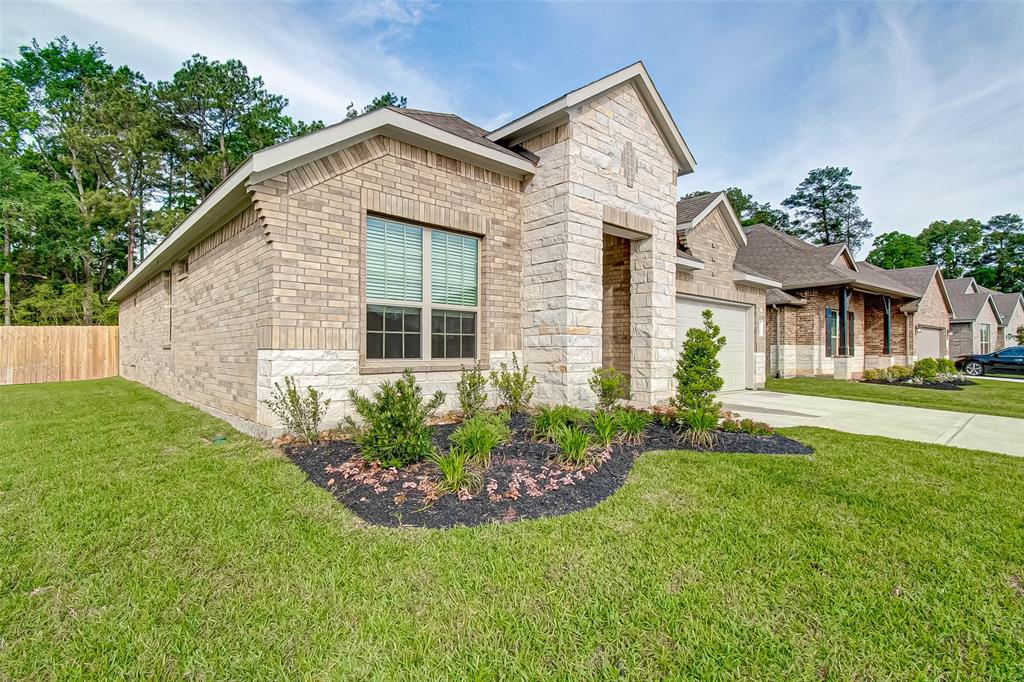 With a quiet tree lined easement and large backyard, 14348 Zion Gate Xing is sure to wow! Gorgeous wood-look floors, granite kitchen countertops, three bedrooms, 2 baths, and a large open living and dining space is perfect for any living needs. The primary bedroom boasts double doors leading to a large glass surround shower, soaking tub, and double sinks. Two secondary bedrooms give enough space for additional sleeping arrangements or set up your work from home needs with a home office space. Enjoy a beautiful evening on the back patio while you hear the birds chirp and the quiet serenity of having a tree lined easement and no back neighbors. Come by and see 14348 Zion Gate Xing, now for lease.