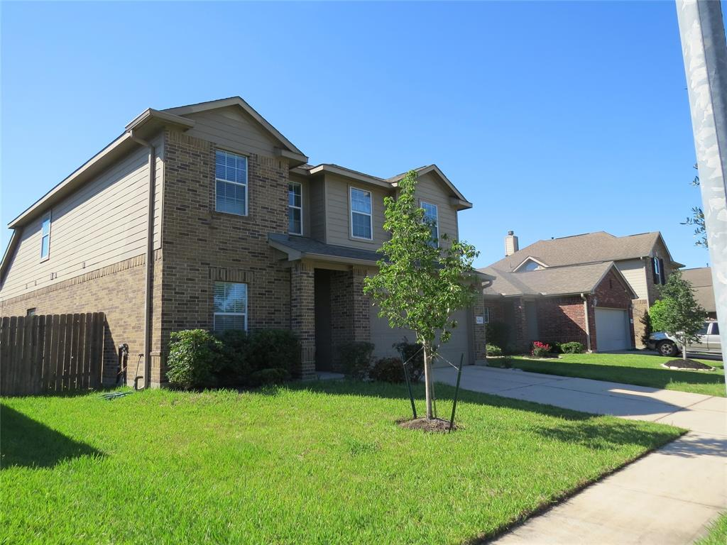 Legends Ranch gated community, large 2 story, 4 bedroom, 2 1/2 bath home features wonderful amenities in the community such as pool, tennis courts, splash pad and much more. Granite counter tops in the kitchen with updated appliances. Study/library on the first floor, game room on the second floor with 3 bedrooms. Primary bedroom on first floor with double vanity and separate shower/tub. Large walk in closet. Back yard is fenced with patio area ready for summer! Faux blinds throughout home. Washer/dryer and frig come with home. RENTERS INSURANCE REQUIRED