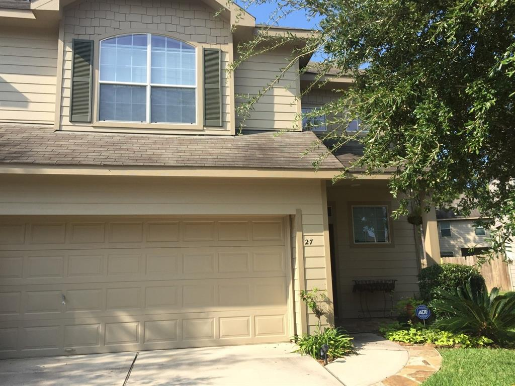 Wonderful culdesac location. Many custom features added. Built-in lighted TV/ entertainment cabinets, custom painted, furniture styled island with granite and tumbled marble backsplash. All designer paint colors, freize carpet. Tile floors downstairs. Large upstairs gameroom can be used as an office.  Enormous master bedroom.  Extended flagstone sidewalk and back patio covered and with a ceiling fan. Stainless dishwasher and Refridgerator, Washer, Dryer.