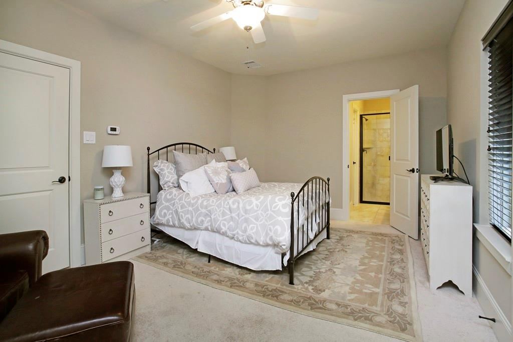 Generous first floor bedroom. Each bedroom comes with its own (spacious) closet and bathroom.