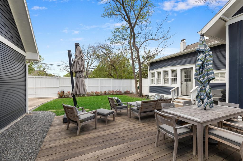 Huge lot with a backyard big enough for a pool and lots of privacy.