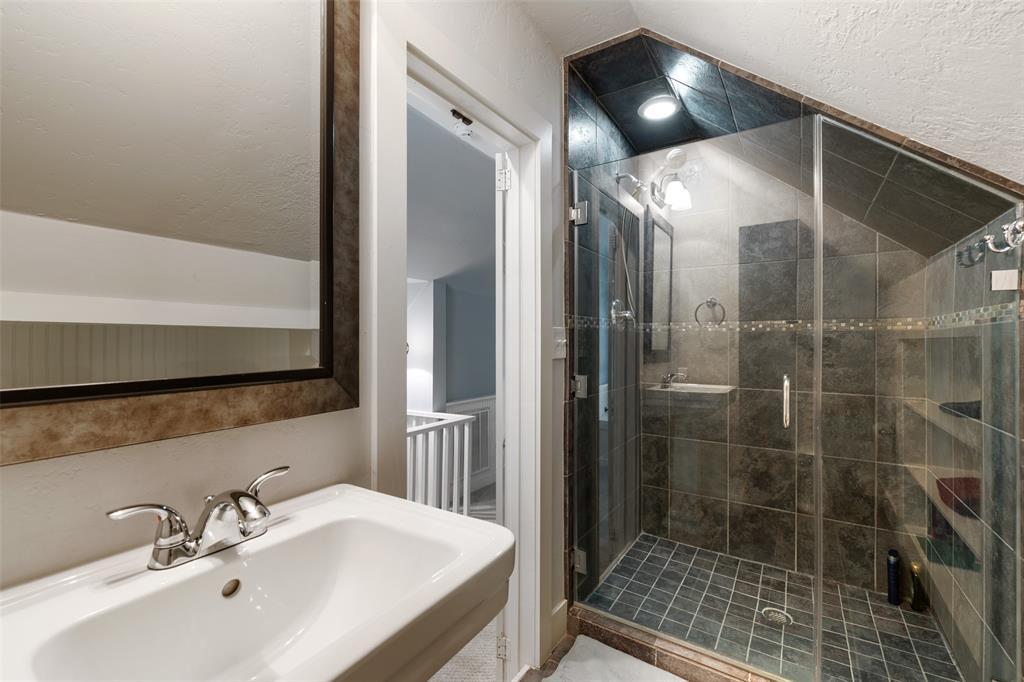 Full bath on second floor.