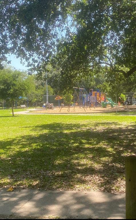 View of park, tennis courts, and playground just one block away!