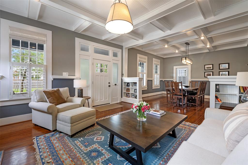 So beautifully updated, with original pine floors and huge windows