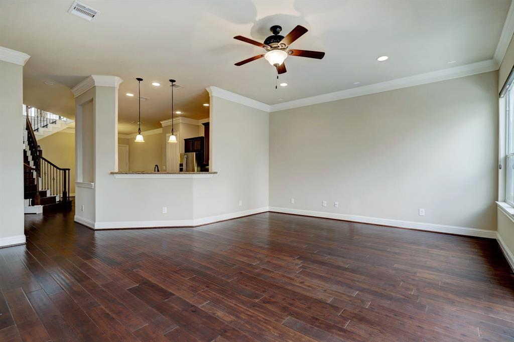 Other stunning finishes in this home include the engineered hardwood floors and mill work/crown molding. The palette throughout the property is neutral and classic.