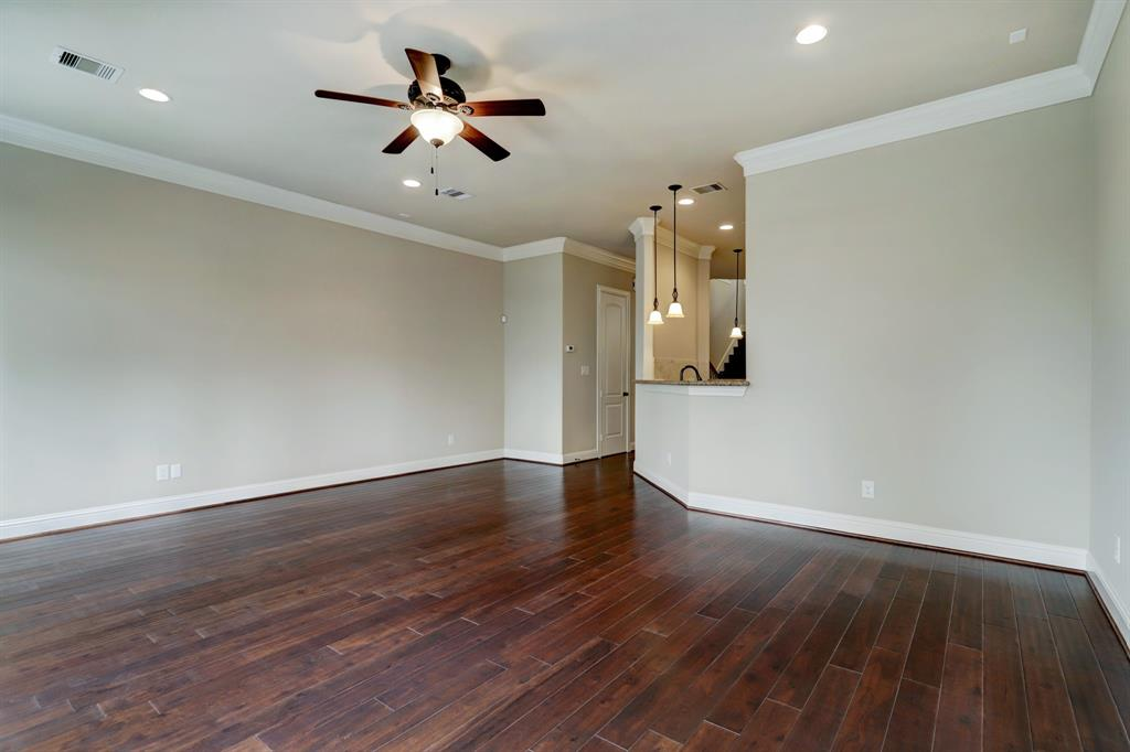 One final perspective of the family room. The white door at the far end is to the half bath.