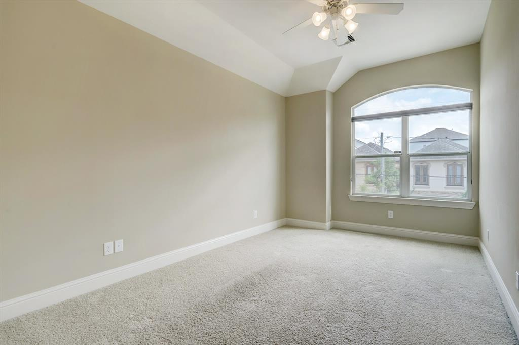 The second and third bedrooms are very equally (and well) sized, and quite bright. They both face south.