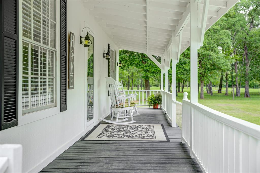 Welcome Home! This Beautiful Ranch Style Home on 9.36 acres in a quiet country setting awaits its new owners.Property is located in both sought after Northern Waller and Southern Grimes Counties & Zoned to Waller ISD. Home features 2 bedrooms and 1 bath...would be perfect for singles,retirees,or a small family however could easily be expanded if more bedrooms desired.Home offers a spacious kitchen;w/granite counter tops,electric stove top,SS refrigerator, and tons of cabinets. The bathroom has been updated with a new tub/shower combo & toilet. Additional updates include exterior paint,a galvanized metal roof,concrete sidewalks,a 20x20-garage along with a 25x30-workshop w/built in shelves, roll up doors, and concrete slab.To complete the renovations HVAC system, water softener, water heater and well pump were replaced. Property has an abundance of trees and plenty of room for privacy and relaxation. Come add your personal touch and make this your home sweet home. Move-In Ready/Low Taxes