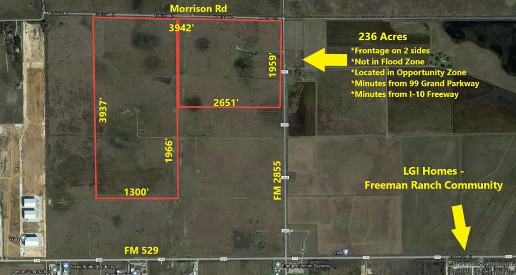 corner Morrison Road, Brookshire, TX 77423