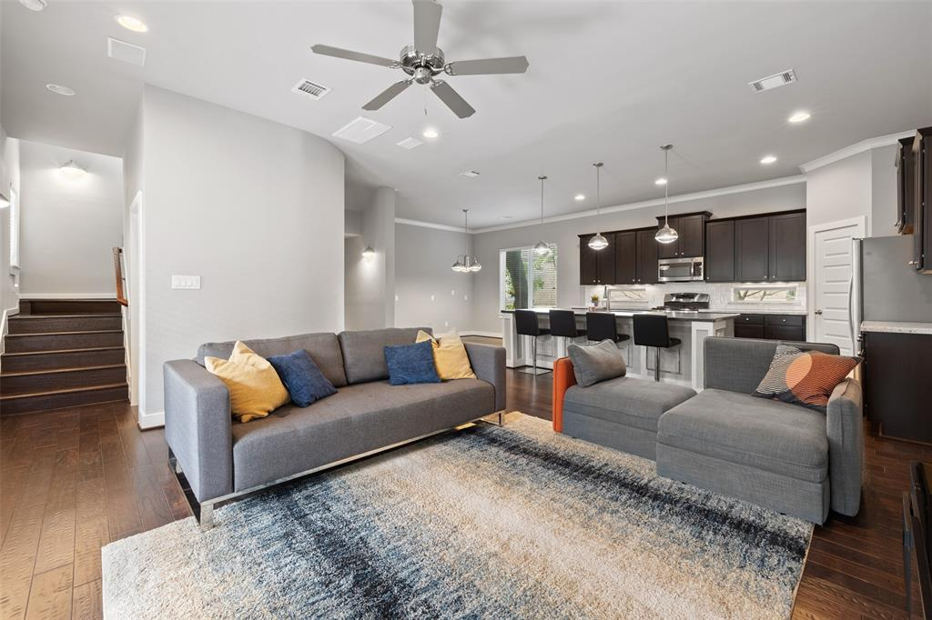 The open floor plan functions great for today's modern lifestyle.