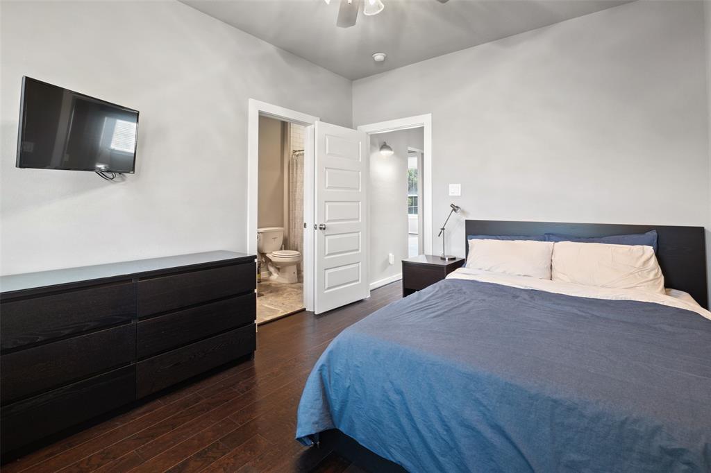 Bedroom # 3 features wood floors.