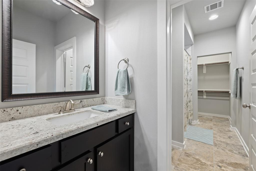 Full bath # 2 features modern finishes and great closet space.