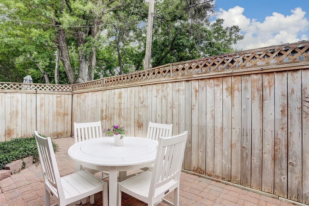 Enjoy the outdoors on your private patio.