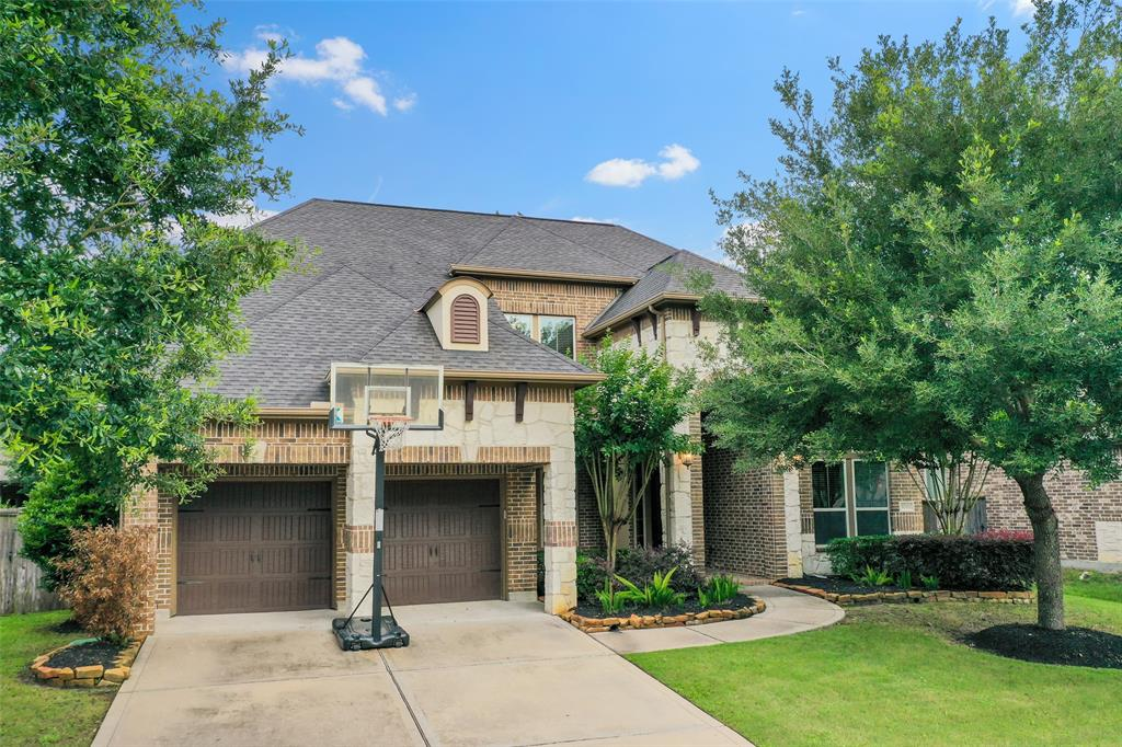 """Multiple offers seller is asking for highest and best by 7:00 pm Sunday 6/6/2021  Incredible stone and brick with great curb appeal sitting on over 10,000 sqft lot. From the minute you walk in the front door, the elegance will astound you. Greeted with high ceilings, stylish trim and 5"""" wood flooring throughout most of the first floor. 4 Bedrooms, 3.5 bath, study, game room, media room, formal dining, butler's pantry and 3 car garage. Open living area with awesome stone fireplace hearth. Chef's dream island kitchen with granite countertops, inlaid backsplash, GE profile stainless steel appliances, double ovens, 5 burner gas cooktop, breakfast bar, and walk-in pantry. Large breakfast room. The 19'x14' primary suite can't be beaten with its 17' x 11' executive bath custom designed with double shower heads, granite counter tops, and jetted tub. Covered patio with huge backyard that can accommodate a big pool with lots of room left over. Don't miss the 3-D virtual tour with floor plan!"""