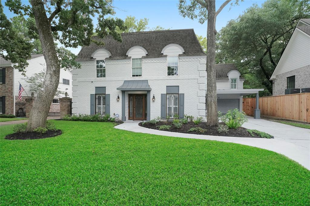 """Stunning recent remodel w/ 5 bd, 4.5 ba on the bayou! Be in Terry Hershey Park steps from your back yard. Featuring 2 masters, 1 down & 1 up, w/ luxurious baths. 3 additional bdrms + game rm up. Family rm has accordion """"Nana"""" doors which open completely to the outdoor living area. Kitchen features large island in Taj Mahal quartzite w/ 6-burner dual fuel 48"""" range w/ griddle, built-in drawer microwave, custom cabinets, large walk-in pantry & a seat overlooking the back yard. Outdoor living area has a stone deck, gas firepit, BBQ, & overlooks bayou."""