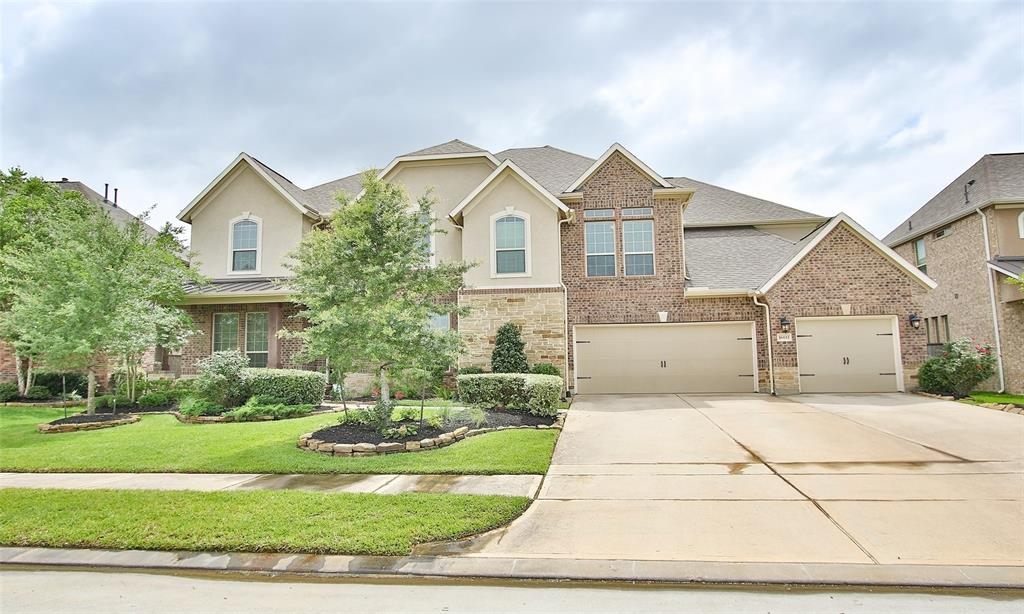 This Majestic looking Capriccio floorplan has 2 story, 5 Beds, 4.5 Baths & 3-Car Garage. No front & back neighbors. Strong CY-FAIR schools & close to area highways including 290 & 99 Tollway. Island Kitchen features an adjoining Breakfast Area that overlooks the Family Room. The Formal Dining & Living are just off the Foyer. Primary Bedroom features a Sitting Area. Another guest bdrm in dwnstairs with attached full bath. Upstairs Game Room, Study/Office & Media Room, 3 more bdrms & 2 full baths. This home also features granite countertops, Tile Back Splash, under-cabinet lighting & Flooring Upgrades. Built with the CalAtlantic Homes HouseWorks Energy Efficiency Package! Energy Star 3.0, 16 SEER A/C. Large backyard. Huge covered patio with outdoor kitchen, sink, gas range, refrigerator, side burner and gas grill. Upgraded water softener & water filtration systems. Both back & front yards have irrigation systems. French drain in backyards. No flooding in this area.