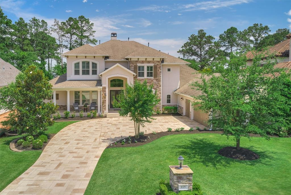 Gorgeous custom home tucked away on quiet cul-de-sac, in the Country Club Subdivision of Bentwater. This 5BD/5.5BA home features a bright & open floor plan with soaring ceilings. Gourmet kichen w/large island, gleaming granite counters, six burner gas stove, study nook off breakfast room & top of the line appliances. Flowing seamlessly into the main living area w/ a cozy fireplace w/a galley winebar located nearby-- this house was designed w/ entertaining in mind. Escape to the Master Retreat that is spacious and privately located with an inviting spa-like bath. Sizeable secondary bedrooms (one down, three upstairs) each w/ their own Bath. Gameroom up w/ wet bar and media RM. Wind down in the manicured backyard w/screened in porch & summer kitchen & outdoor patio. Walking distance from the pool, Yacht Club and marina. Enjoy life, like you're on a vacation w/country club access, THREE 18-hole championship golf courses, yacht & sports club, 24 hr manned gate. Grand Pines available.