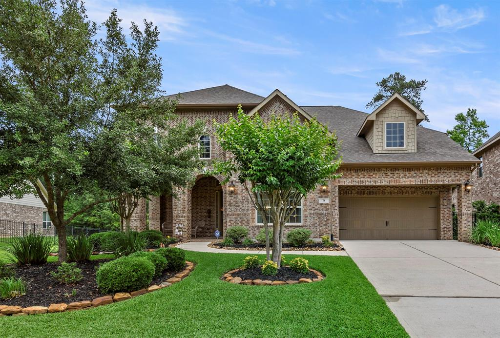 Stop the car!  This one has everything you have been looking for.  Gorgeous Village Builder on Easement lot backing to The George Mitchell Nature Preserve so no back neighbors ever ,just the beautiful woods and wildlife.  Home also features a beautiful heated pool and great covered patio where you will enjoy great family time.  The home is perfect with extensive tile flooring throughout the downstairs.  Home features a study with French doors, formal dining, Large open family/kitchen/breakfast with wall of windows open to the backyard.  The large kitchen has a breakfast bar, beautiful wood cabinets, granite counters. The master suite is down with hardwood and large executive bath with his and hers closets, dual sinks and corner whirlpool tub.  Upstairs you will find 3 large beds, a game room plus separate large media room.  Three car tandem garage offers ample space for cars and storage.   This one has it all!
