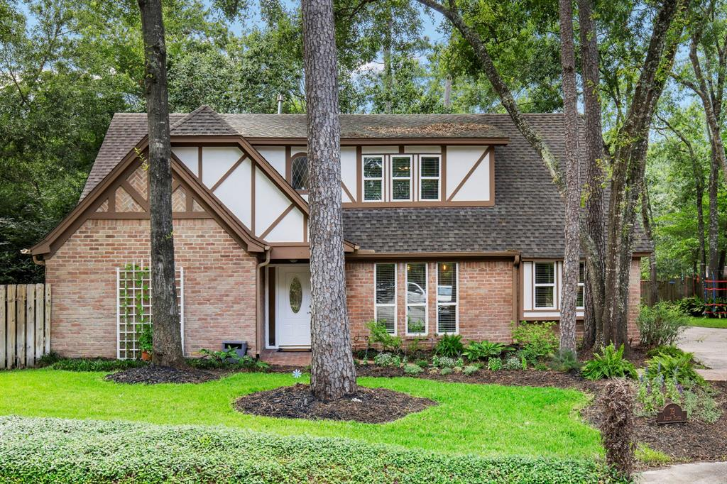 Hard to find home in the front of The Woodlands.Over ¼ acre, cul-de-sac lot,with an abundance of mature trees & private yard which backs to greenbelt.There is an expansive outdoor deck that is perfect for entertaining. This 4 bed, 3.5 bath home features a huge primary bedroom & bathroom on the 1st floor. The primary bedroom has a door which leads out to a private pool that can be used year round. Large study with French doors on the 1st floor. Stainless steel appliances in the kitchen and large 5 burner gas cooktop. A great bonus is the 295 sq.ft air conditioned/heated space located near the detached garage. This additional space has a separate entrance and can be used for a 2nd office, workshop or easily converted into detached guest quarters. Amazing location in Grogans Mill & zoned to award winning CISD schools. Great location, close to everything The Woodlands has to offer. Easy access to I-45, Hardy Toll Rd, and Grand Parkway. Schedule your showing today before this one gets away!