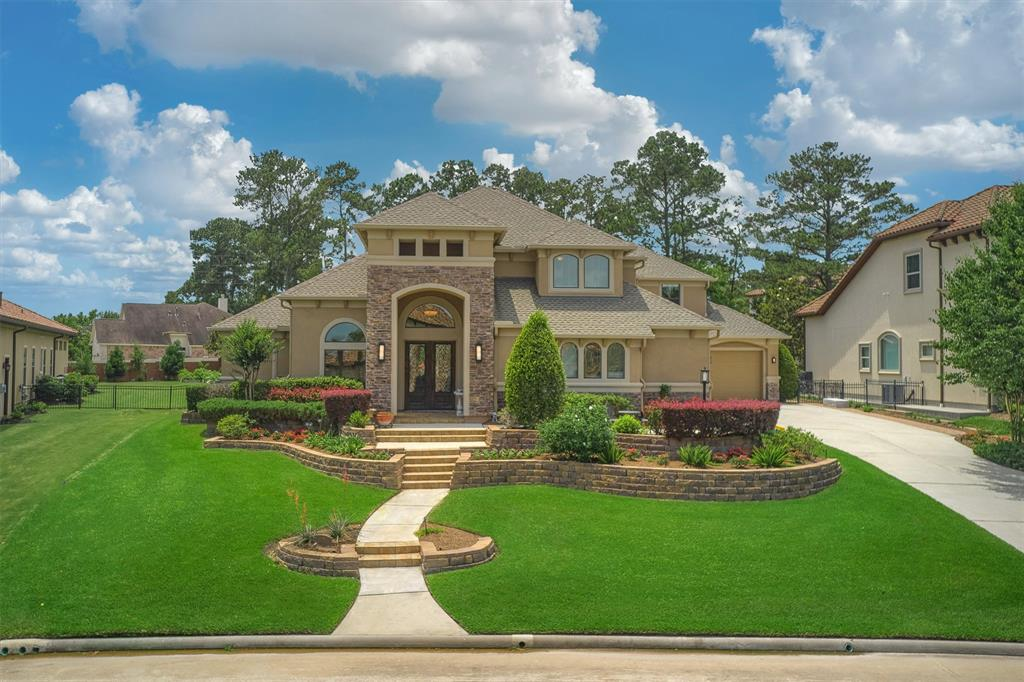 Stunning home with a POOL/SPA in the refined subdivision of Bentwater. This custom 5BR/3.5BA home sits on a spacious lot & features a bright and open floorplan. Gourmet kitchen w/x2 ovens, island w/cooktop (pre-plummed for gas). Captivating picture windows, serene views & a cozy fireplace highlight the main family RM. Formal living nearby. Master BR w/rich wood flooring, sitting area & outdoor access. Spa-like bath w/x2 sinks, oversized 5-head shower & sep. vanity. Sizeable secondary bedrooms upstairs. Study off foyer. Media Room up w/screened in porch access. Extend entertaiment outdoors on the gorgeous covered patio w/outdoor kitchen or relax by built in fire pit enjoy views of the sparkling pool/spa + lg grass area with endless possiblities. Walking distance to the water! NEW- Roof, Carpet, & Pool Makeover! Enjoy life, like you're on a vacation w/country club access, THREE 18-hole championship golf courses, yacht & sports club, 24 hr manned gate. Grand Pines Membership avaliable.