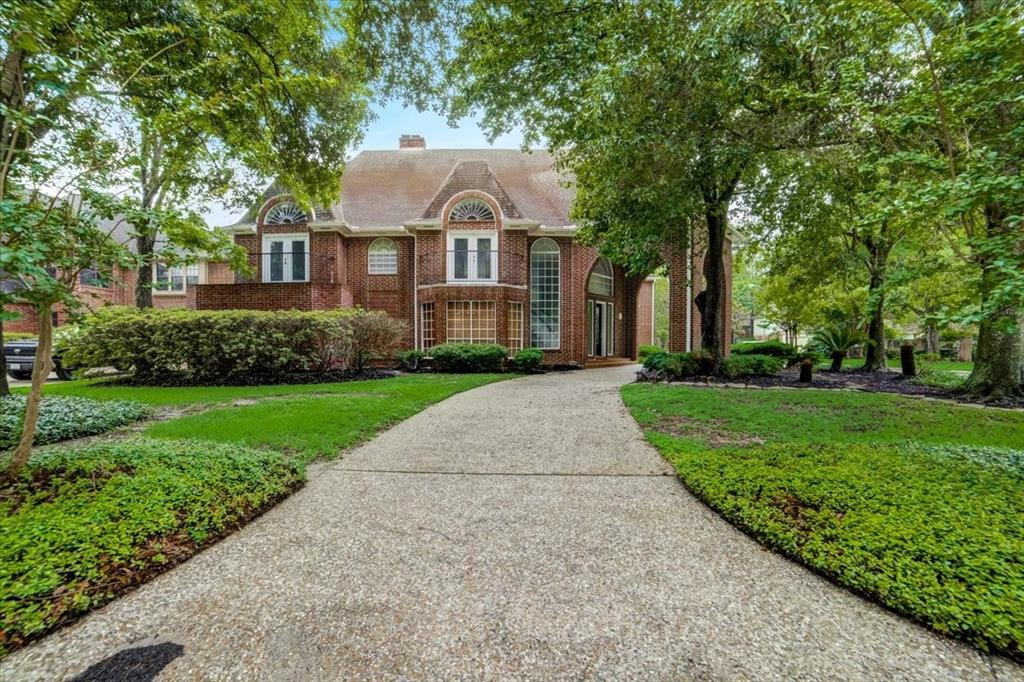 STUNNING custom build home in the beautiful established neighborhood of Olde Oaks. Grand entryway with wood and marble floors. 2 Primary Bedrooms, 1 up and 1 down. This home offers 6 bedrooms, 4 full baths, 3 half baths, and a 3 car attached garage. Classic formal dining and impressive study/library. Kitchen with an island. Massive gameroom upstairs with a bar. Each room has its own balcony. Backyard has pool/spa and a wood deck. This home will not last long!