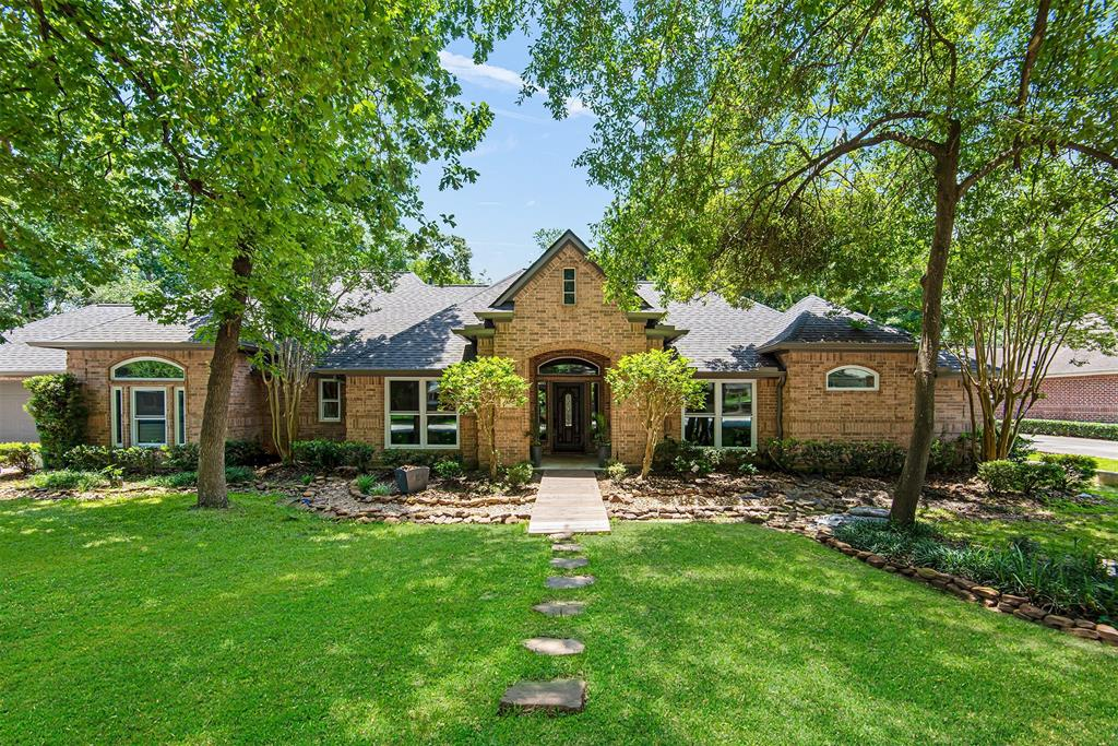 One story in Forest of Wedgewood with a huge yard and lots of privacy. This home has been fully remodeled over the years. As you enter you have a study with french doors to the right and a large family room with fireplace open to dining, kitchen and breakfast room. The kitchen has stainless appliances, granite counters and plenty of cabinet space. This split floor plan has a primary bedroom with a fully remodeled master bathroom completed June 2021. Large soaking tub and walk in shower with white subway tile. Double vanities and walk in closet. On the other side you have three bedrooms and 2 full bathrooms. Large utility room leading to garage. Outside you have a covered patio overlooking a huge yard with plenty of space for a pool. The roof was replaced 2016, tankless water heater 2013, windows 2017/2018. FULL HOUSE GENERATOR 2020!!! Vinyl wood flooring throughout house.