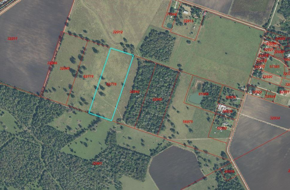 Serene location off CR 428 has potential for home site, farm/ranch. Enjoy wildlife, hunting, etc. Easily accessed from Business 59. Gas well on property, minerals will convey.  Acreage has existing ag exemption.