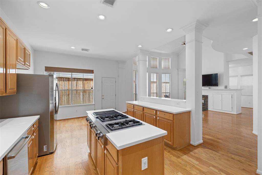 The kitchen space also features a breakfast area.