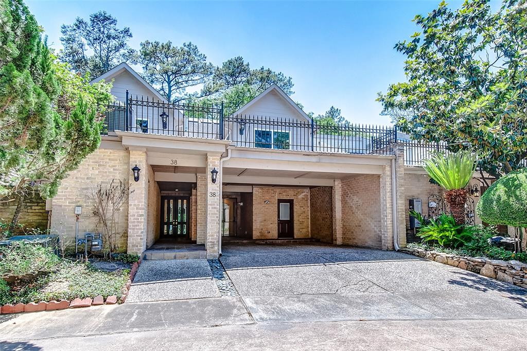 Space! Space! Space!  This huge stunning townhome is the crown jewel located in the heart of Memorial.  24 hour manned gate.  Lush tall pines and gardens.  Comfy wood deck overlooking gorgeous bayou.  Excellent school district.  Flooded during Hurricane Harvey for the first time, fully remediated and remodeled.  Move in ready.  All measurements are approximate and need to be verified.  Proof of funds or prequalified letter required when submitting purchase contract.  On behalf of motivated seller, listing agent Jessica Huang would like to thank you for very much your interest and time.