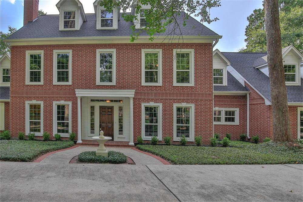 """A GROGAN'S POINT BEAUTY!THIS HOME, BUILT BY JAY WENDELL,ENJOYS LASTING TRADITIONAL ARCHITECTURE IN AN """"UP FRONT"""" AND SOUNGHT  AFTER NEIGHBHOHOOD IN THE WOODLANDS!THIS STRIKING HOME IS BEAUTIFULLY SITUATED ON A 3/4 ACRE+LOT. THIS HOME FEATURES 4/5 BEDROOMS,4.5 BATHROOMS,MASTER DOWN SURROUNDED BY WALLS OF WINDOWS, FEATURES A PRIVATE ENTRANCE ONTO THE LARGE COVERED DECK.FORMAL DINING ROOM, LIVING ROOM W/WOOD BURNING FIREPLACE, STUDY & 1/2 BATH DOWN.PREPARE YOUR MEALS IN THE SPACIOUS KITCHEN W/THERMIDOR APPLIANCES & BUILT-IN REFIRGERATOR;DOUBLE OVENS & AMPLE STORAGE FOR YOUR SPEICAL & EVERYDAY PIECES.THE KITCHEN IS OPEN TO THE LARGE FAMILY ROOM.THE GAMEROOM IS UP ALONG W/ANOTHER HUGE ROOM THAT COULD BE A BEDROOM, ANOTHER GAME ROOM OR LIVING AREA.!FULLY FENCED.CONVENIENT TO I-45 & THE HARDY TOLL ROAD. 3 CAR ATTACHED GARAGE. FRESH EXTERIOR PAINT TO BEGIN 7/31/21.MAKE THIS YOUR NEW HOME & START ENJOYING ALL THAT THE WOODLANDS HAS TO OFFER!THIS HOME HAS NOT FLOODED."""