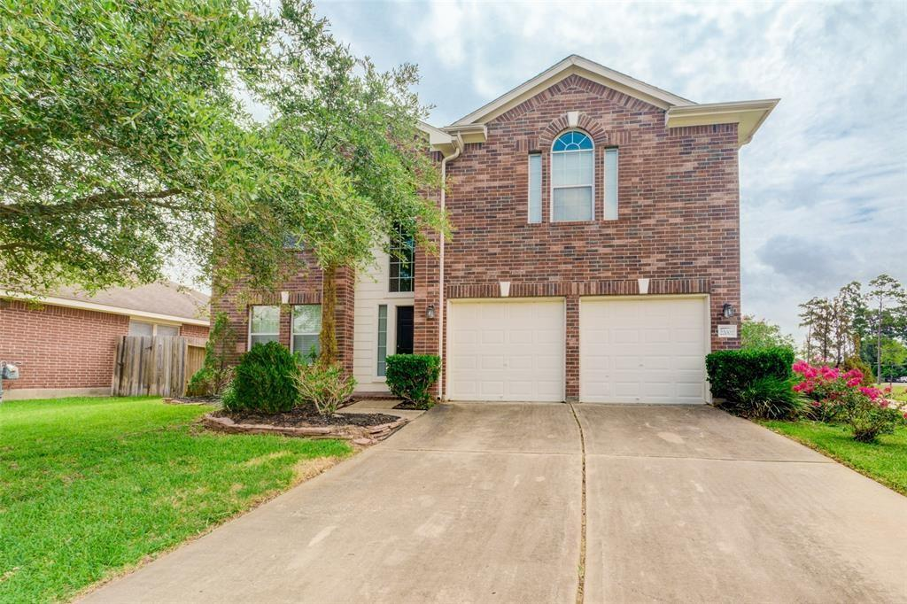 Wow what a find.... 2 story 3 bed 2 and a half bath with Game room up. Right next to small Lake. Large yard with covered patio with ceiling fan. Wired for surround sound in family room and game-room. All bedrooms up, light and bright property with room for everyone. Close to 99 and the I-45 corridor, easy commute the The woodlands and the Exxon campus. Don't miss out on this great property. Call for a showing today !!