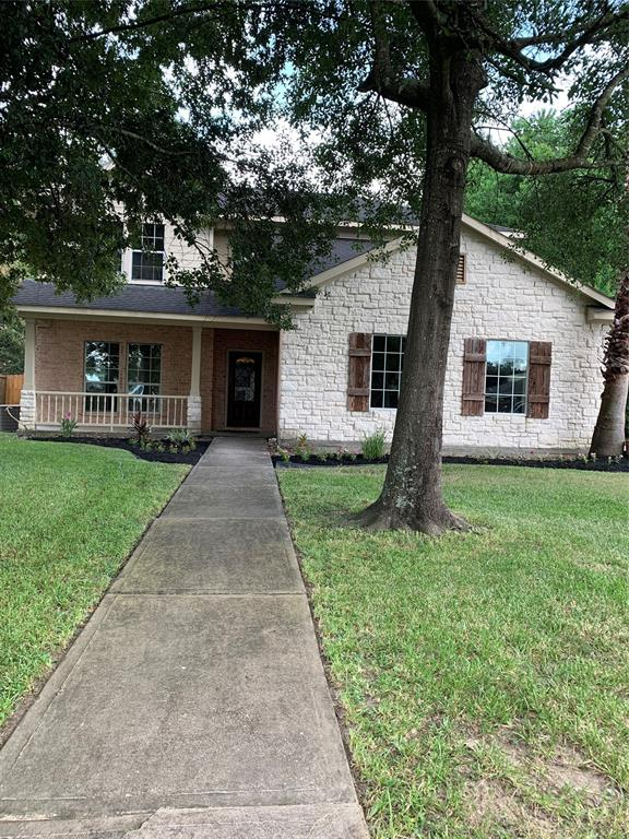 Beautiful custom built home, slate entry with 5 bedrooms, master bedroom first floor, master bathroom whirlpool tub, and oversize separate shower, 2.5 bathrooms, wood and tile flooring throughout first floor.  Kitchen with granite countertops, fridge and dryer included. Close to 45, Grand Parkway, SH249 and Hardy Toll.