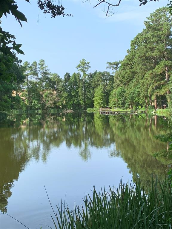 This property may be the best kept secret bordering The Woodlands.  Beautiful waterfront lot on 60+ year old lake with over 170 feet of waterfront.  This community has 5 private stocked lakes available for fishing and kayaking/canoeing. Lots of wildlife. This is a rare opportunity for a tranquil lifestyle.  Less that a minute from I-45. Water well access, electric and septic tanks with aerobic system on property.
