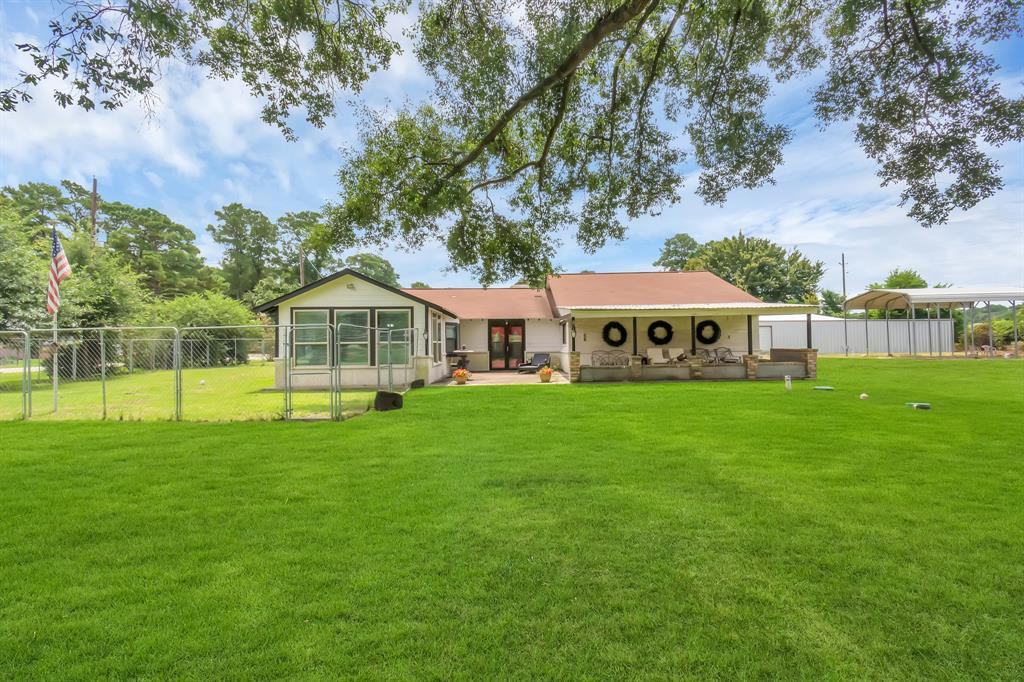This UNRESTRICTED 2.17 Acre Estate includes a single story, 2591 sqft, 4 bedroom, 2.5 bath home, 6,000 sqft shop & 3 air conditioned offices. Situated just outside of the city to capture the placidity, muteness of a country setting but within reach of many shopping, dining & venues, Within minutes of 99, 249 & 45. Zoned to Klein ISD for award triumphing education. From curb to the expanded back yard you are sure to be impressed! Home has a spacious floor plan & plenty of natural light, a voluminous Primary bathroom with Hollywood spa tub, separate sizably voluminous shower with controlled dihydrogen settings, vanity with dual sinks. Home includes custom built laundry room with storage space & built in cabinets. Exotic granite counters & spacious island with seating & storage in kitchen. Immensely colossal covered patio, vaulted ceiling, extra parking & gorgeous greenery all around. Ideal for Commercial Business, Country Living or Home & Business cumulation. Schedule your showing today!