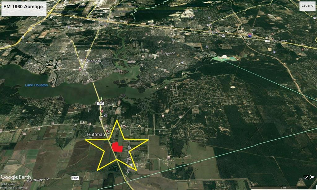 65+/- acres with frontage on FM 1960. Just east of the intersection of FM 2100 & FM 1960. Over 1000' of Frontage. Property is just a few miles away from Atascocita to the west and the New Grand Parkway 4-5 miles to the East.Adjacent 1.8 Acre lot with approximately 632' also for sale