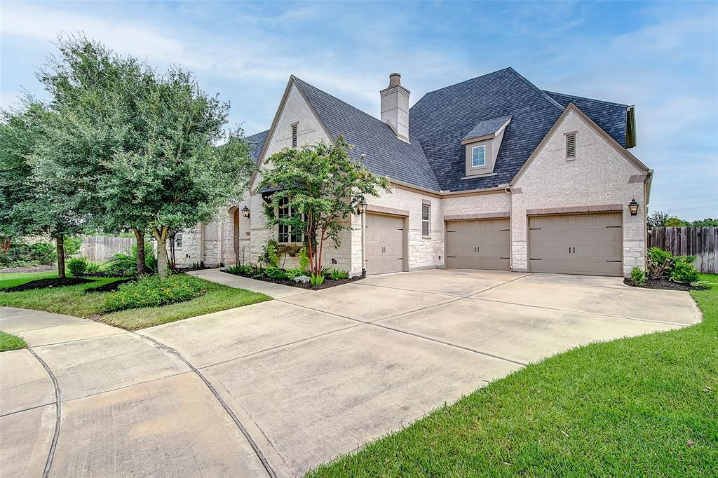 Welcome to this Beautiful 4 Bedroom 4.3 Bath 3 Car Garage Home, which has upgrades galore.Built by award-winning Highland Homes. Located in Firethorne, an established Master Planned community in Katy which offers a wide array of amenities.No problem fitting a pool on this 1/2 acre cul de sac lot.Private Casita as you enter front door to the left with full bath microwave and mini Fridge.Open Air Covered Courtyard with gas Stone Fireplace. Double door entry that flows to a light filled 2 story foyer. High Vaulted Ceilings welcome you with beautiful stained wood beams. Open concept Kitchen and Living area with large windows and Dormers. Gourmet Kitchen flows beautifully with Custom Signature lighted Cabinetry, Silestone counter tops and Large Island. Spacious Primary Bedroom has a Beautiful Faux finished Barrel Vaulted Ceiling and Crown molding.Primary Bath is elegantly stylish with oval tub and extra large walk in shower with 7 heads. Lots of closet space. Come home and Live in Luxury.